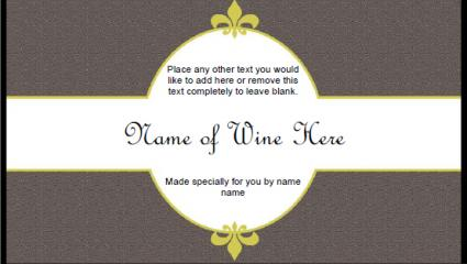 Neutral Wine Label  Free Wine Bottle Label Templates