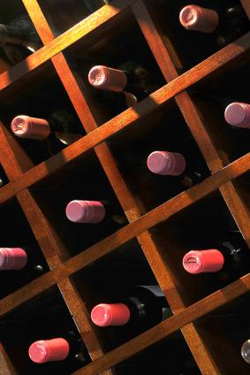 wine rack with individual storage spaces