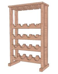 Build a free standing wine rack