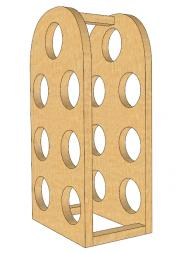 oak wine rack plan