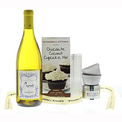 Cupcakes and Wine gift basket