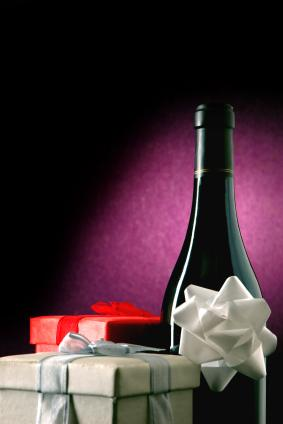 wine with presents
