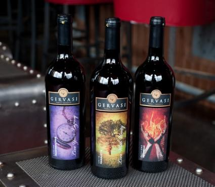 Gervasi Vineyard wine bottles