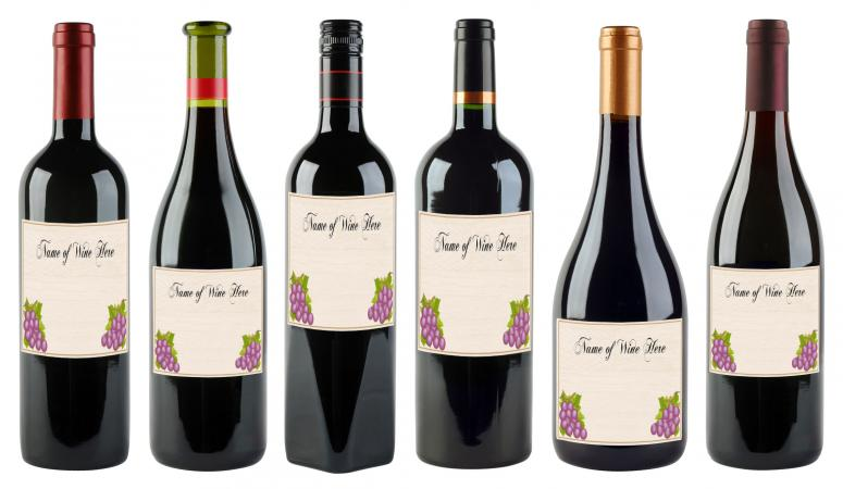 Add Your Own Wine Labels!  Free Wine Bottle Label Templates