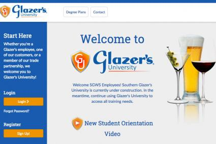 Glazer's University website