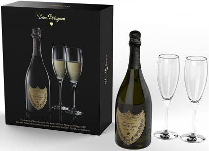 2006 Dom Perignon, Champagne 750 mL Wine With 2 Flutes