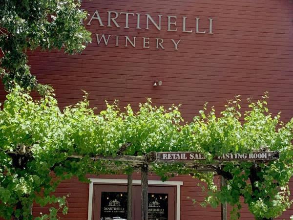 Front door of Martinelli Winery