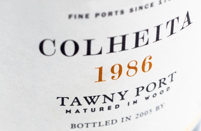 vintage tawny Port label