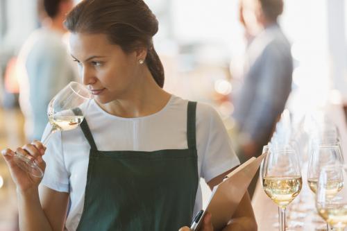 Tasting white wine