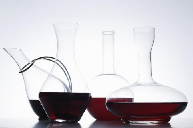Assortment of wine decanters