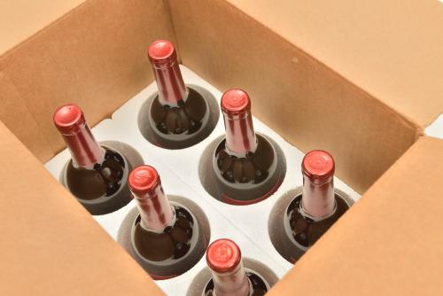 Wine in a shipping crate