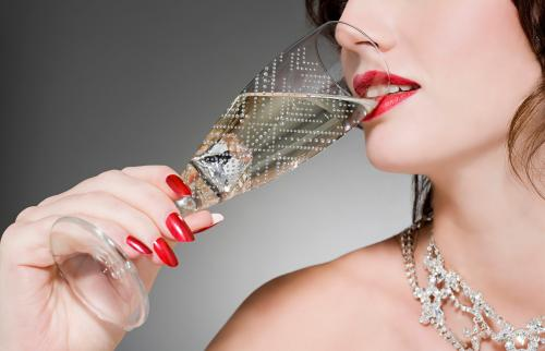 jeweled champagne flute