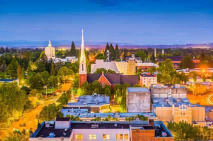 Skyline view of Salem, Oregon