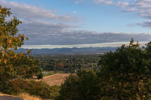Hilltop view of Medford, Oregon