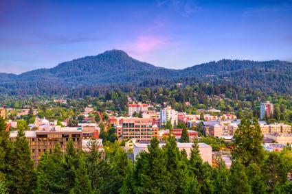 View of Eugene, Oregon