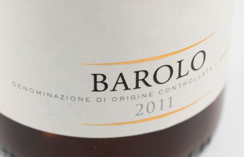 Wine bottle label from Barolo