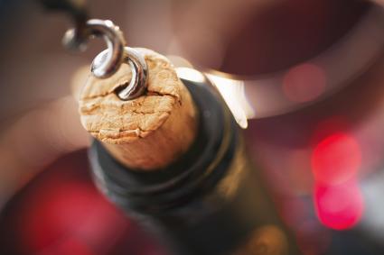Corkscrew in cork