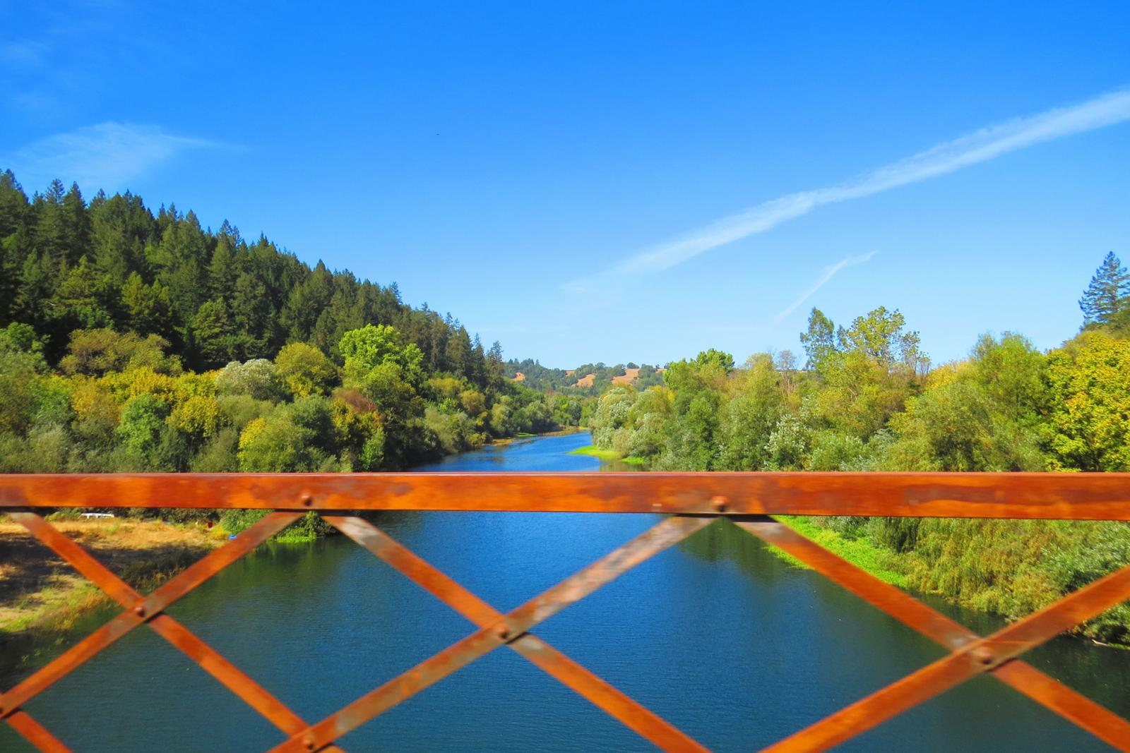 Bridge over the Russian river in California