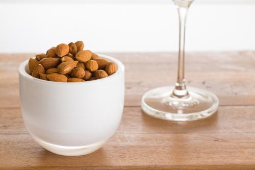 Almonds and wine