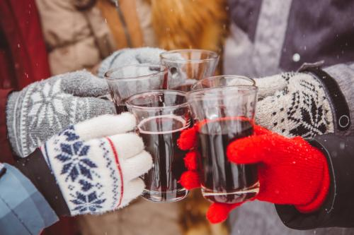 Toasting with mulled wine