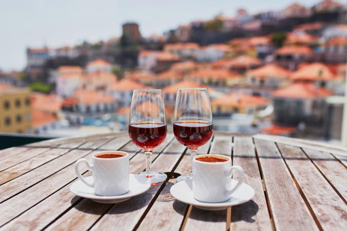 coffee and Madeira wine