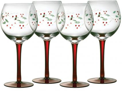 PFALTZGRAFF® - WINTERBERRY® Set of 4 Wine Goblets
