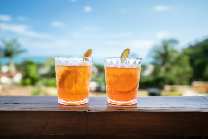 Apéritif cocktails made with Aperol