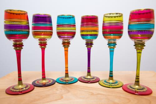 Artisan wine glasses