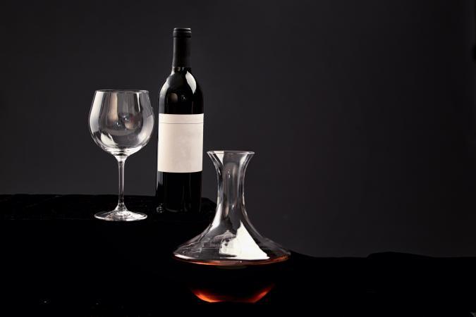 Decanted Cabernet Sauvignon wine