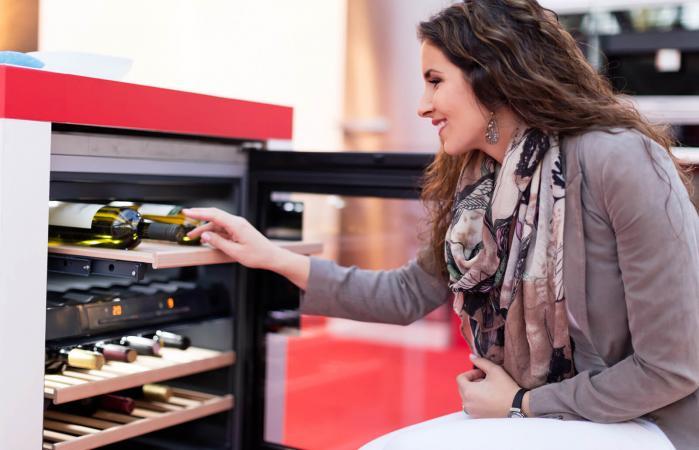 woman choosing perfect wine