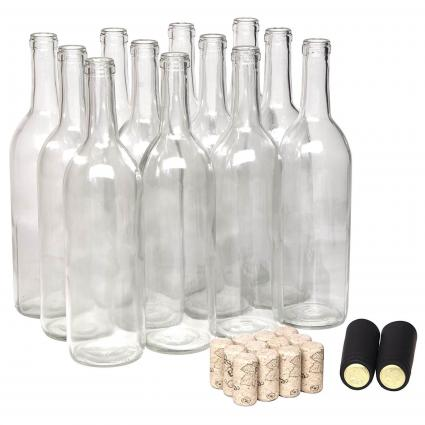 750ml Wine Bottle with Natural Corks
