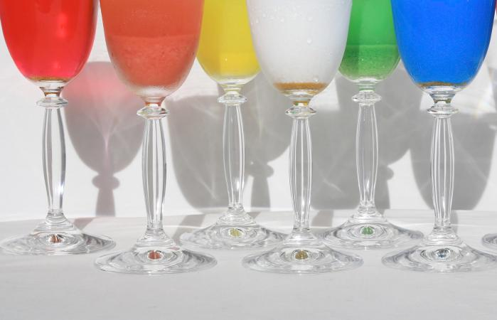 Colored Wineglasses