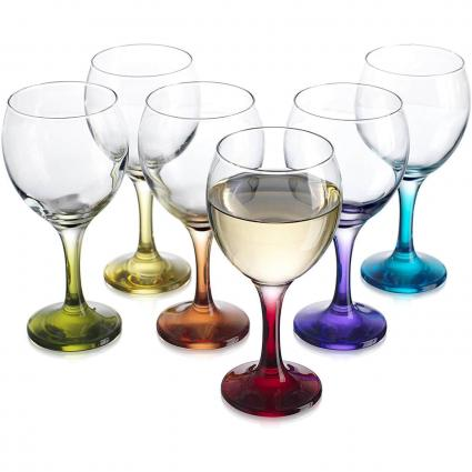Carnival Color Wine Glass