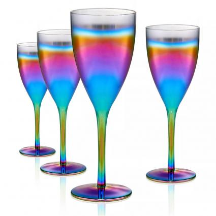 Rainbow Goblet Glasses