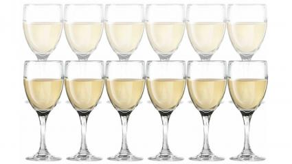 DailywareTM Set of 12 White Wine Glasses