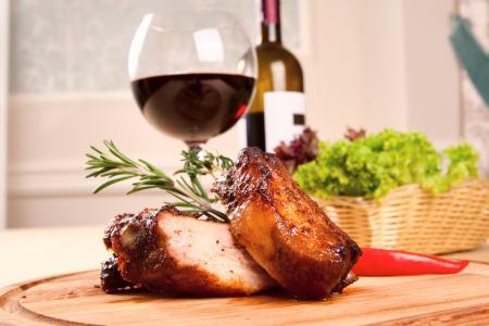 Pork roast and red wine