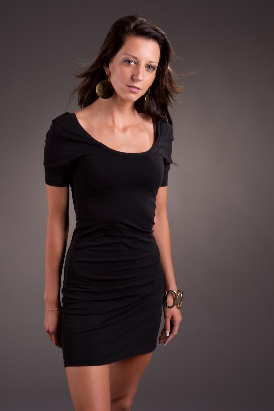 Necklace for long black dress