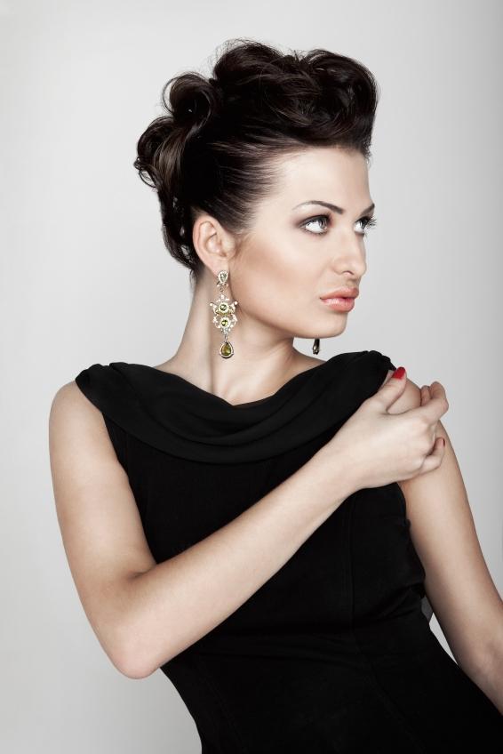 Black Dress And Long Formal Earrings