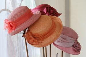 several dressy hats for women
