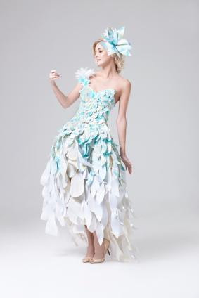 unique feathery gown