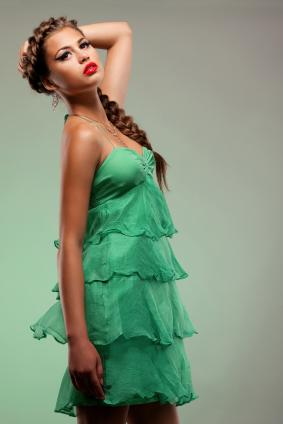 unique green dress