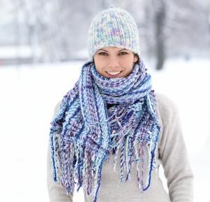 layered winter scarf