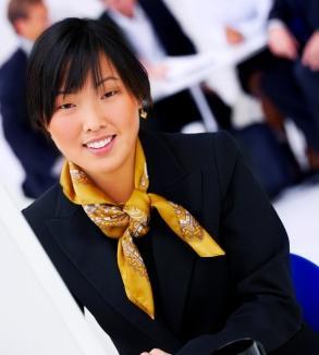 cute yellow silk scarf