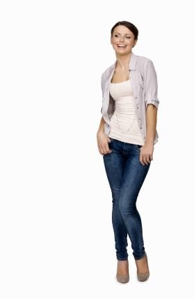 Form fitting fabrics flatter a rectangle body shape.