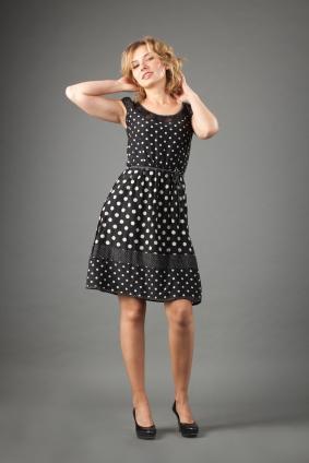 vintage inspired polka dot dress