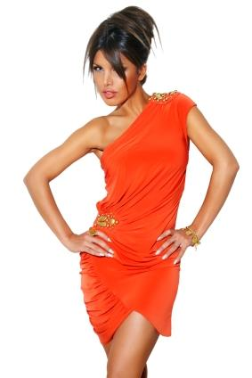 bright cocktail dress
