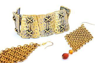 metallic jewelry