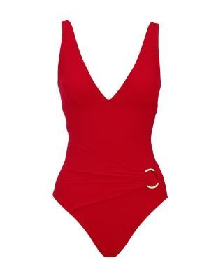 romantic red swimsuit
