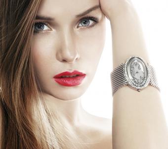 Woman wearing a large watch