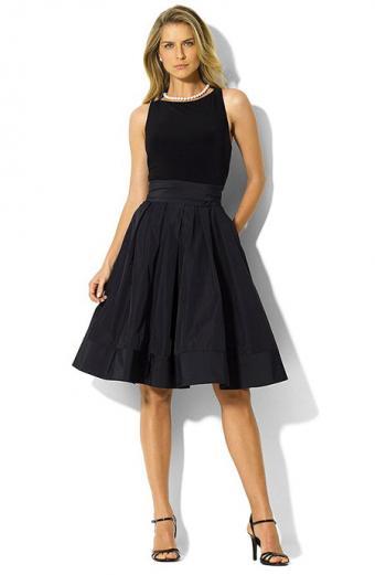 Ralph Lauren Pleated Cocktail Dress
